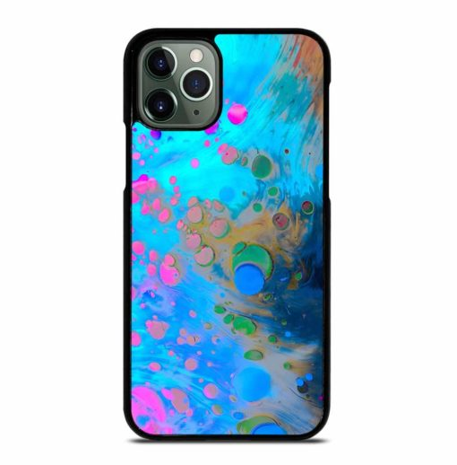 ABSTRACT MARBLING ART PATTERNS AS COLORFUL iPhone 11 Pro Max Case