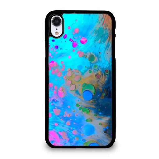 ABSTRACT MARBLING ART PATTERNS AS COLORFUL iPhone XR Case Cover