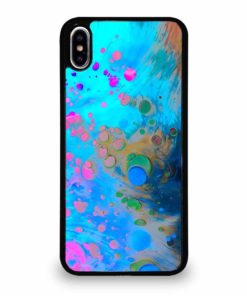 ABSTRACT MARBLING ART PATTERNS AS COLORFUL iPhone XS Max Case Cover