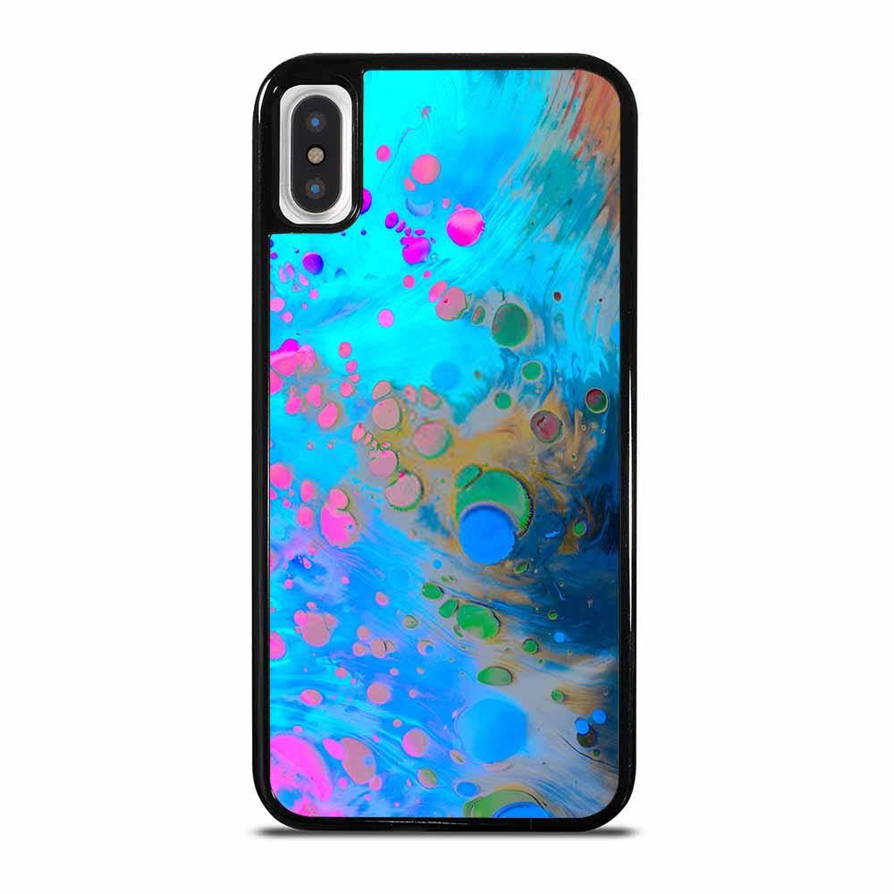 ABSTRACT MARBLING ART PATTERNS AS COLORFUL iPhone X/XS Case