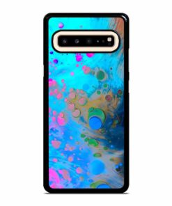 ABSTRACT MARBLING ART PATTERNS AS COLORFUL Samsung Galaxy S10 5G Case