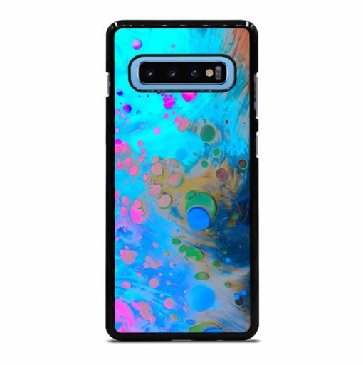 ABSTRACT MARBLING ART PATTERNS AS COLORFUL Samsung Galaxy S10 Plus Case