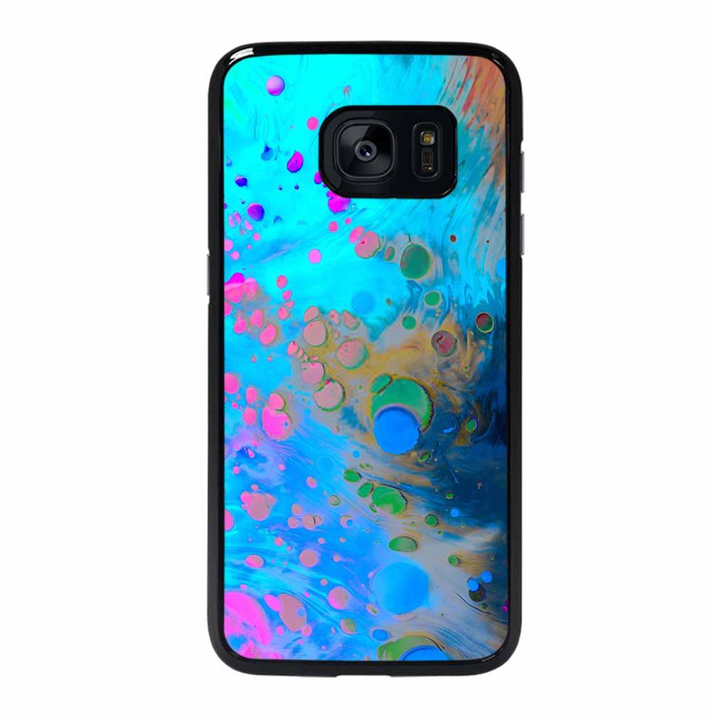 ABSTRACT MARBLING ART PATTERNS AS COLORFUL Samsung Galaxy S7 Edge Case