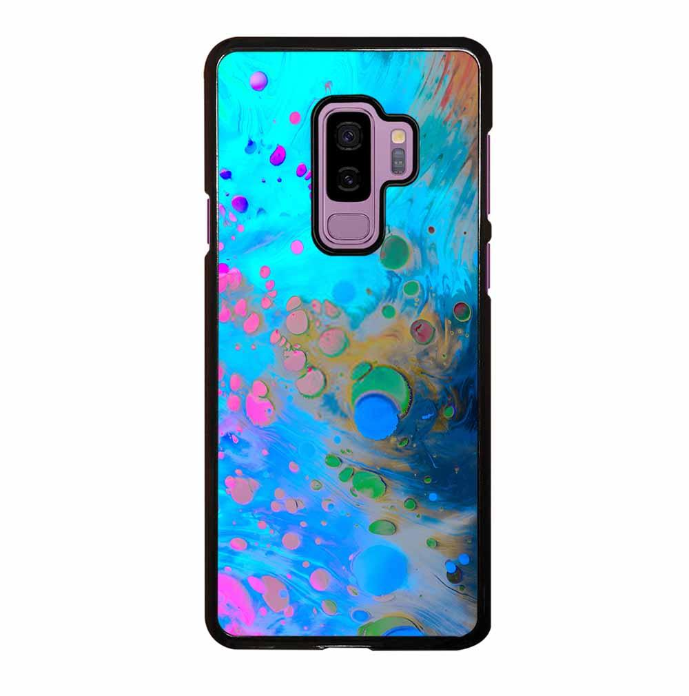 ABSTRACT MARBLING ART PATTERNS AS COLORFUL Samsung Galaxy S9 Plus Case
