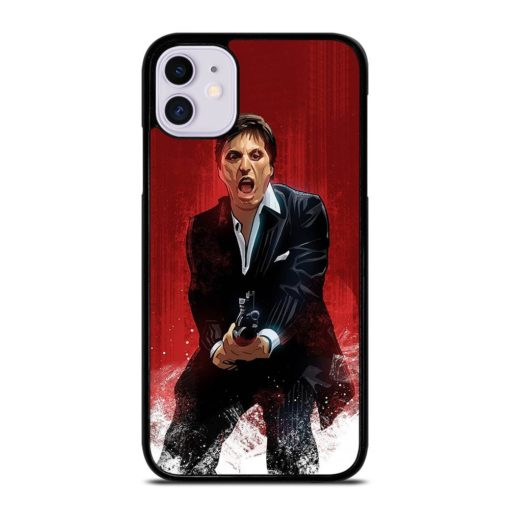 Al Pacino Scarface Drawing iPhone 11 Case