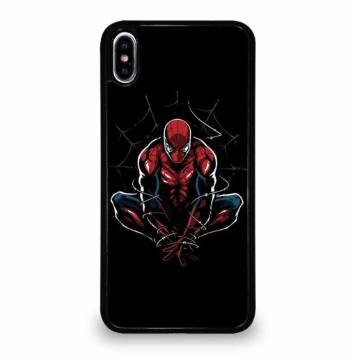 AMAZING SPIDER MAN ON BLACK iPhone XS Max Case Cover