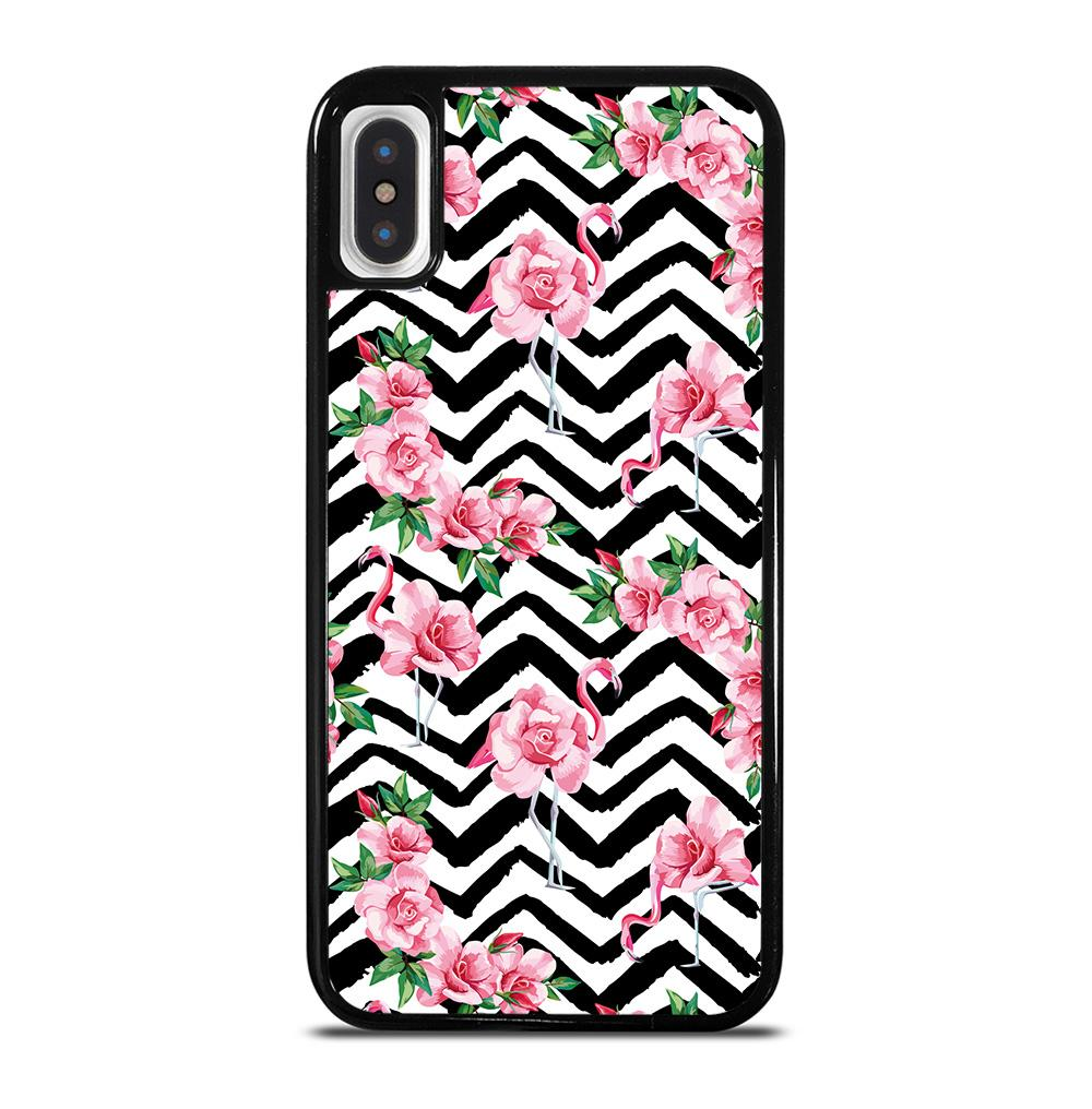 BEACH TROPIC PINK FLAMINGO iPhone X / XS Case Cover