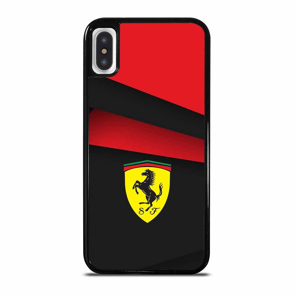 BLACK AND RED FERRARI iPhone X/XS Case Cover