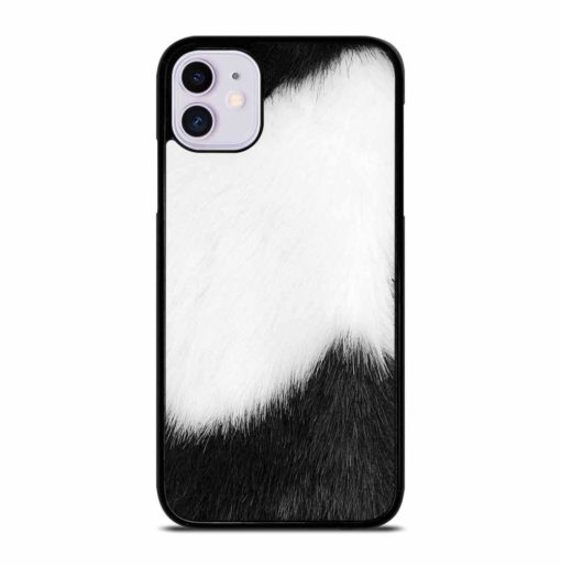 BLACK AND WHITE FUR iPhone 11 Case