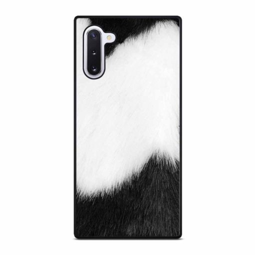 BLACK AND WHITE FUR Samsung Galaxy Note 10 Case