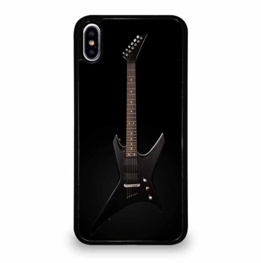 BLACK ELECTRIC GUITAR iPhone XS Max Case