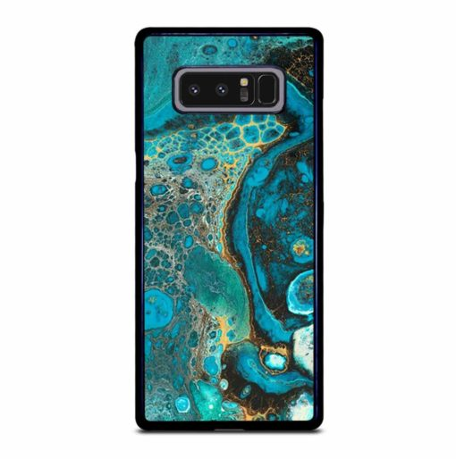 BLUE CREATIVE ABSTRACT MARBLEIZED EFFECT COLORS Samsung Galaxy Note 8 Case