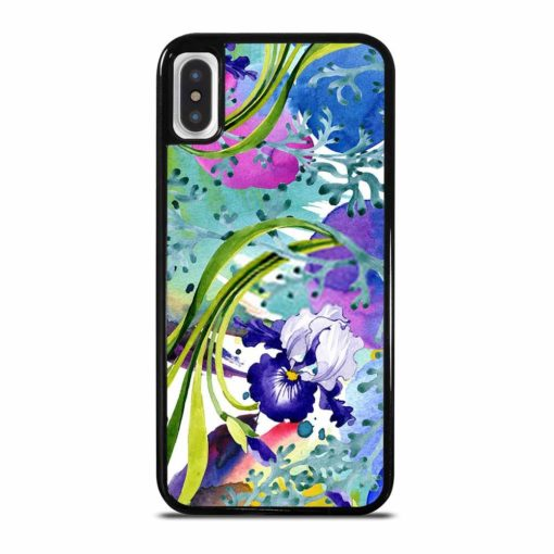 BLUE IRIS FLORAL BOTANICAL FLOWER iPhone X/XS Case