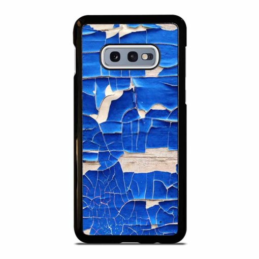 BLUE PEELING OFF PAINT ON WHITE WALL Samsung Galaxy S10e Case