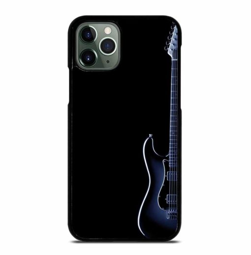 BLUES ELECTRIC GUITAR ON BLACK iPhone 11 Pro Max Case