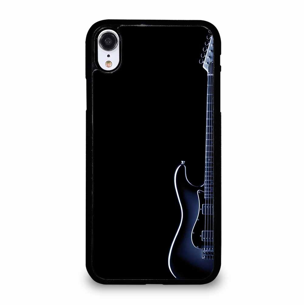 BLUES ELECTRIC GUITAR ON BLACK iPhone XR Case Cover