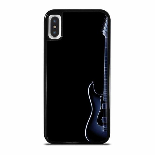 BLUES ELECTRIC GUITAR ON BLACK iPhone X/XS Case Cover