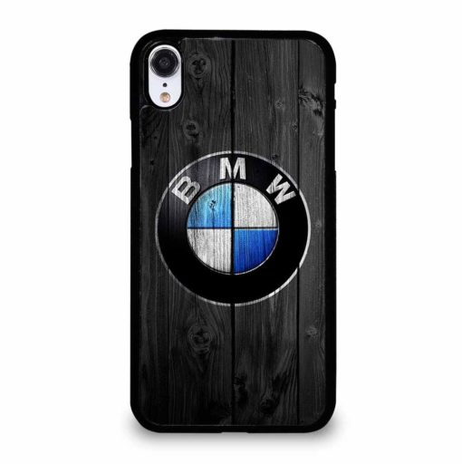 BMW LOGO WOOD iPhone XR Case Cover
