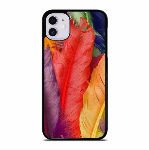 COLORFUL FEATHERS iPhone 11 Case