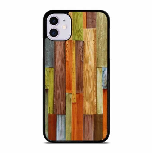 COLORFUL NATURAL WOOD iPhone 11 Case