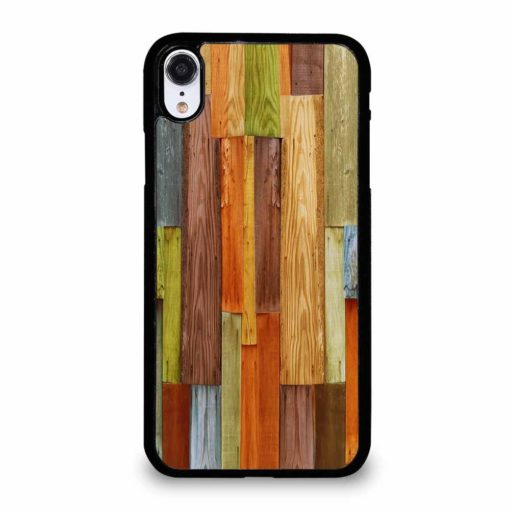 COLORFUL NATURAL WOOD iPhone XR Case