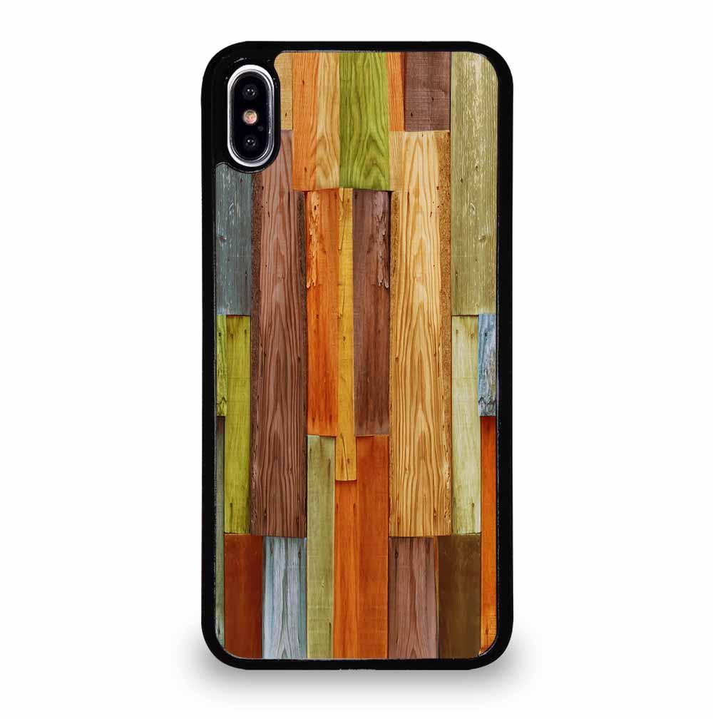 COLORFUL NATURAL WOOD iPhone XS Max Case