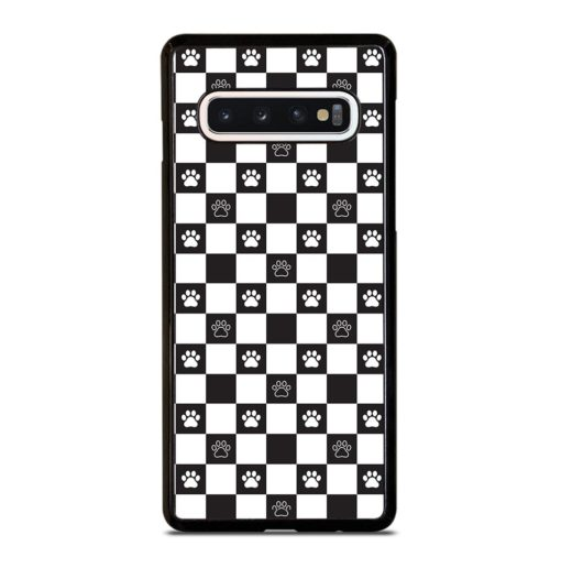 DOG PAW SEAMLESS PATTERN Samsung Galaxy S10 Case Cover