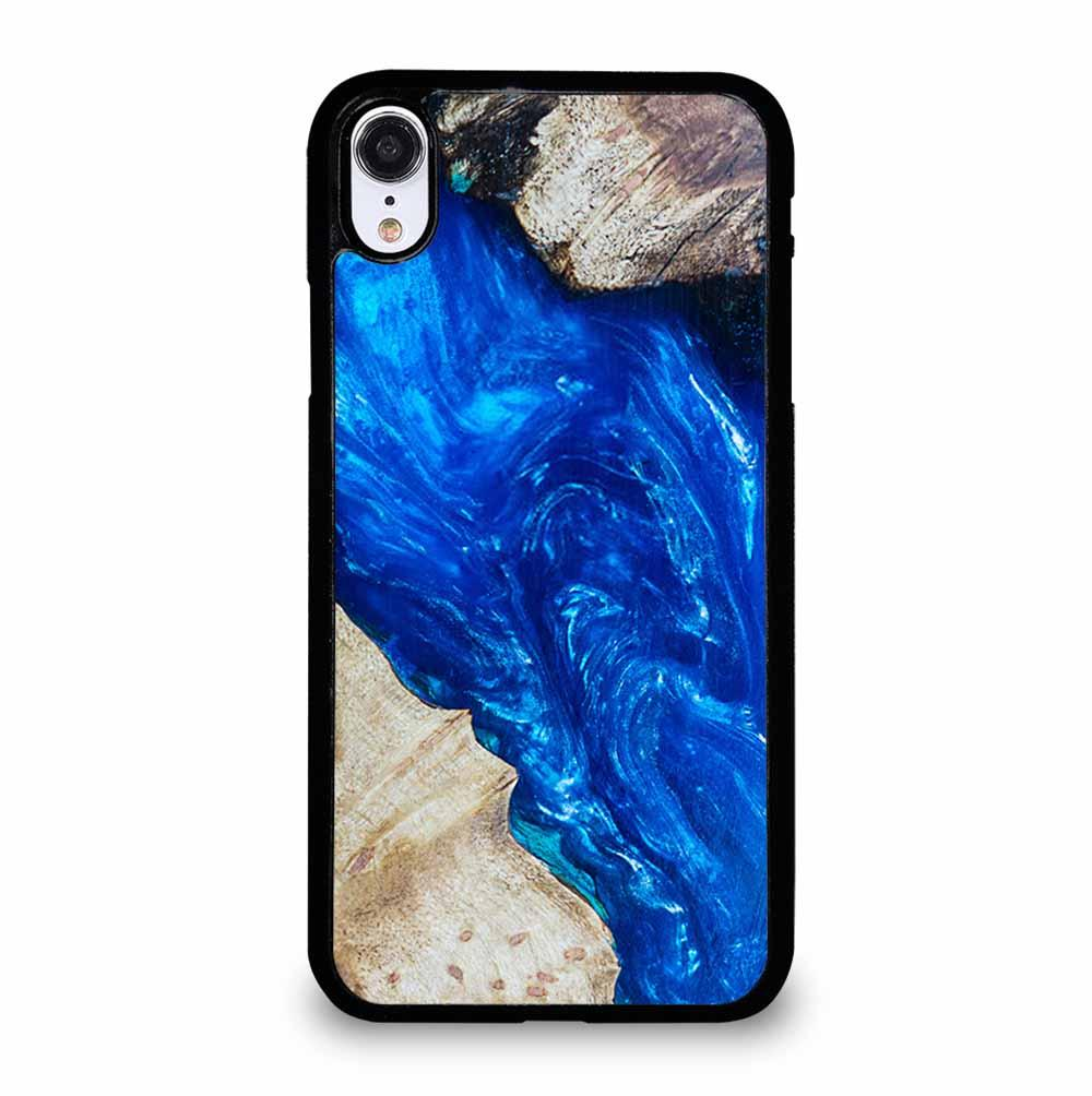 EPOXY CASTING STABILIZING ABSTRACT BLUE WOOD iPhone XR Case Cover