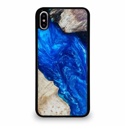 EPOXY CASTING STABILIZING ABSTRACT BLUE WOOD iPhone XS Max Case