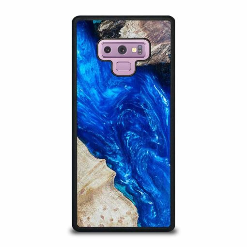 EPOXY CASTING STABILIZING ABSTRACT BLUE WOOD Samsung Galaxy Note 9 Case