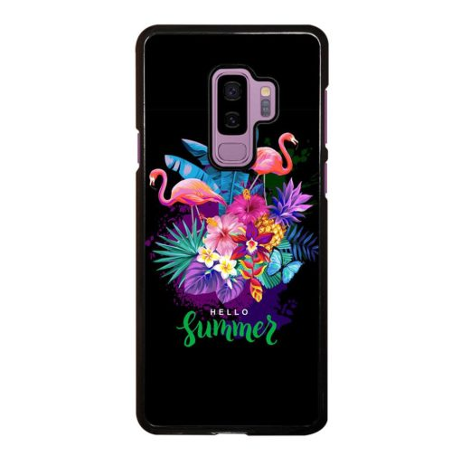 EXOTIC FLOWERS TROPICAL SUMMER FLAMINGOS Samsung Galaxy S9 Plus Case
