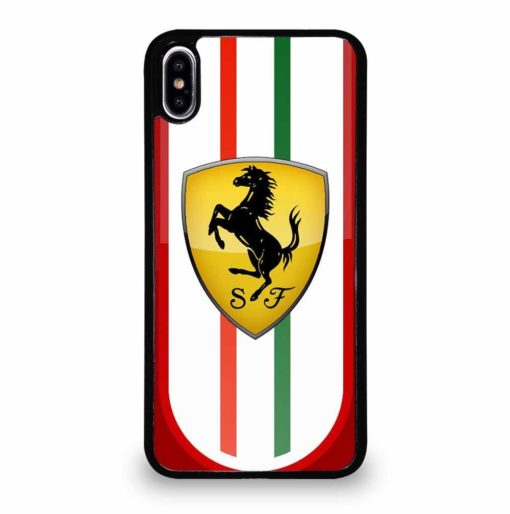 FERRARI RED STRIPE iPhone XS Max Case Cover