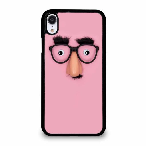 FUNNY MASK WITH NOSE PANORAMA iPhone XR Case
