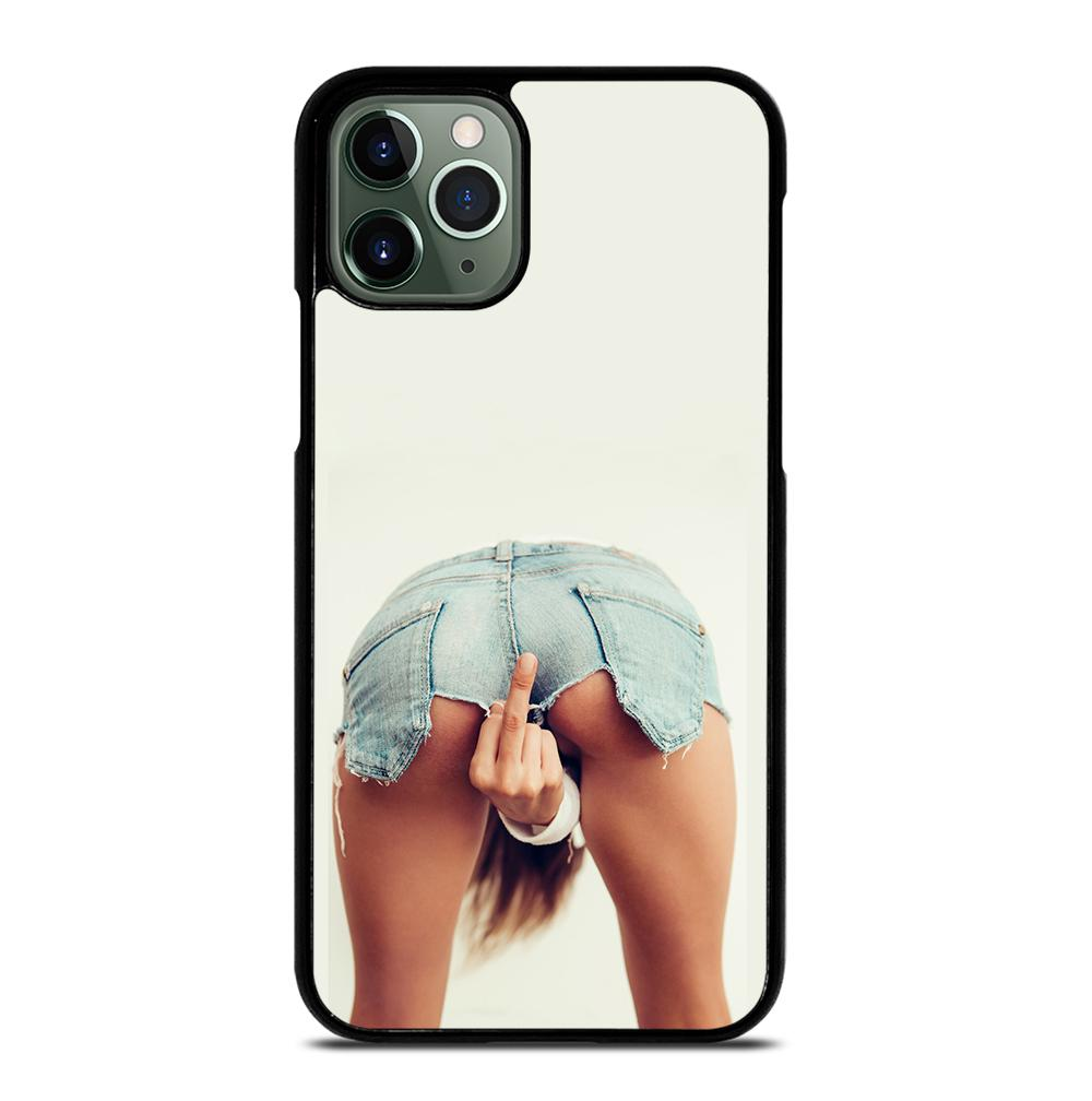 GIRL SHOWING MIDDLE FINGER iPhone 11 Pro Max Case