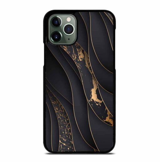 GOLD WAVES LUXURY PAPER CUT iPhone 11 Pro Max Case