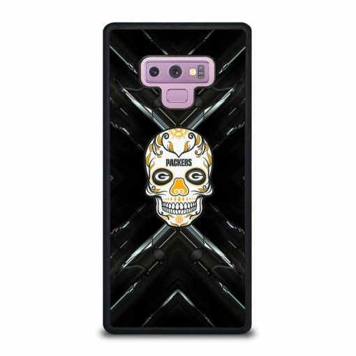 GREEN BAY PACKERS SKULL Samsung Galaxy Note 9 Case