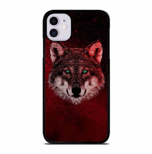 GREEN EYED WOLF iPhone 11 Case