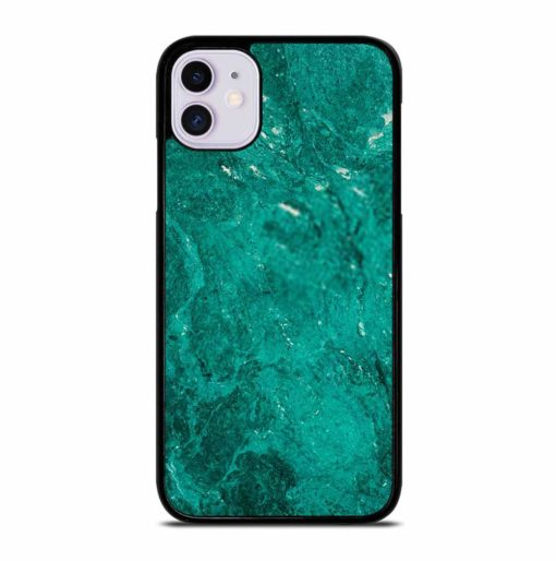 GREEN JADE MARBLE STONE TEXTURE NATURE ABSTRACT iPhone 11 Case