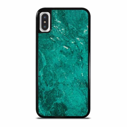GREEN JADE MARBLE STONE TEXTURE NATURE ABSTRACT iPhone X/XS Case Cover
