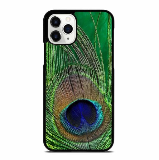 GREEN PEACOCK FEATHER iPhone 11 Pro Case