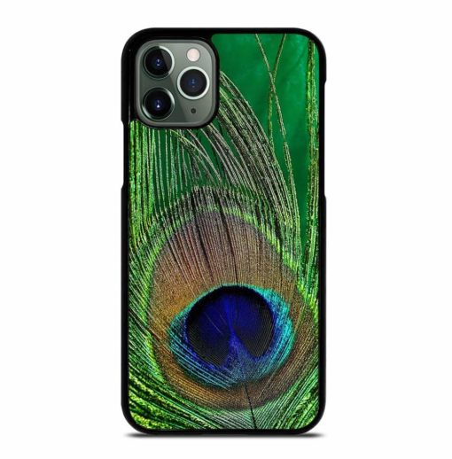 GREEN PEACOCK FEATHER iPhone 11 Pro Max Case