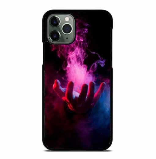 HAND INSIDE COLORFUL SMOKE ON BLACK iPhone 11 Pro Max Case