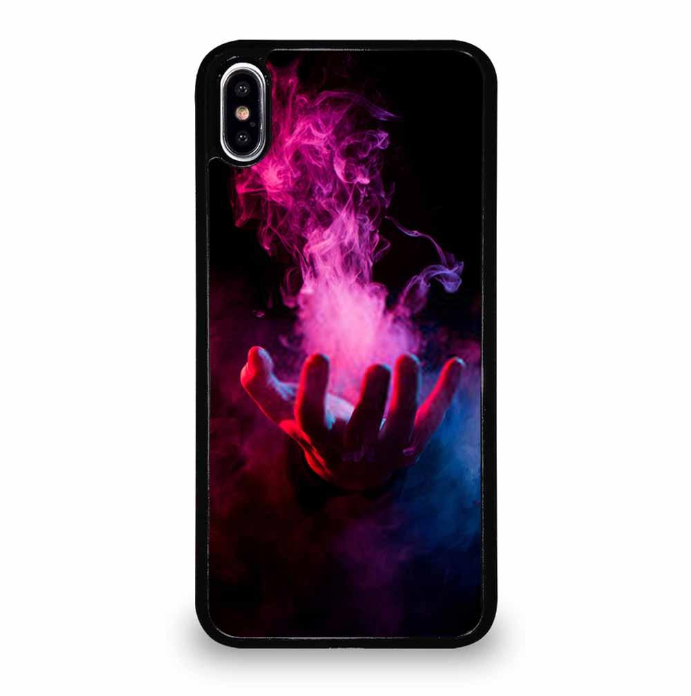 HAND INSIDE COLORFUL SMOKE ON BLACK iPhone XS Max Case