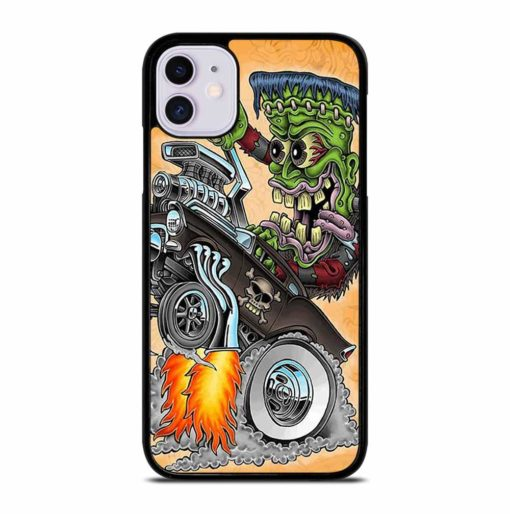 HOT ROD SKULL iPhone 11 Case Cover