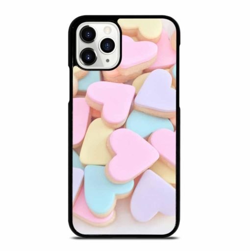 KAWAII CUTE PASTEL PINK LOVE HEARTS CANDY iPhone 11 Pro Case