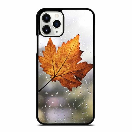 LEAF FALL WITH RAINDROP iPhone 11 Pro Case