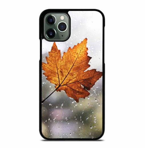 LEAF FALL WITH RAINDROP iPhone 11 Pro Max Case