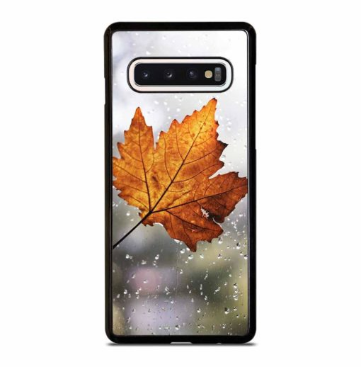 LEAF FALL WITH RAINDROP Samsung Galaxy S10 Case Cover