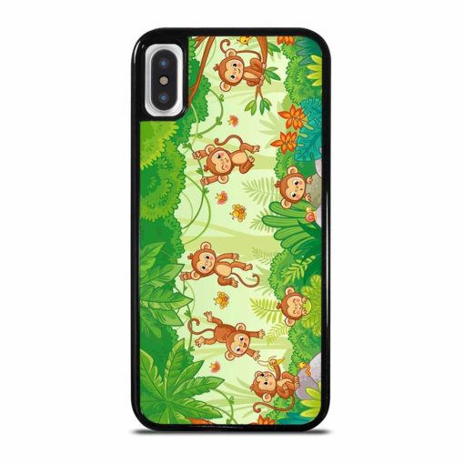 MACAQUES AMONG THE TREES iPhone X/XS Case Cover