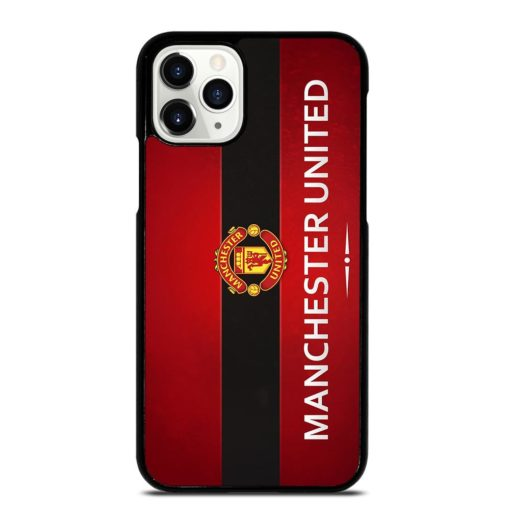 MANCHESTER UNITED LOGO RED BLACK iPhone 11 Pro Case